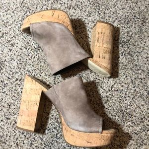 Jessica Simpson platform mule heels